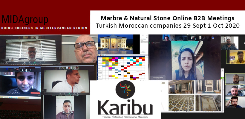 Morocco-Tunisia Online B2B meetings Marble Sector - October 2020